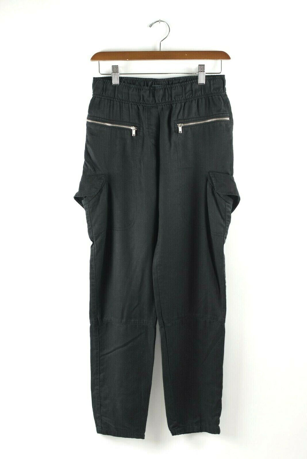Aritzia Babaton Womens Size XXS Black Jogger Pants Pull On Cargo Pocket Skinny
