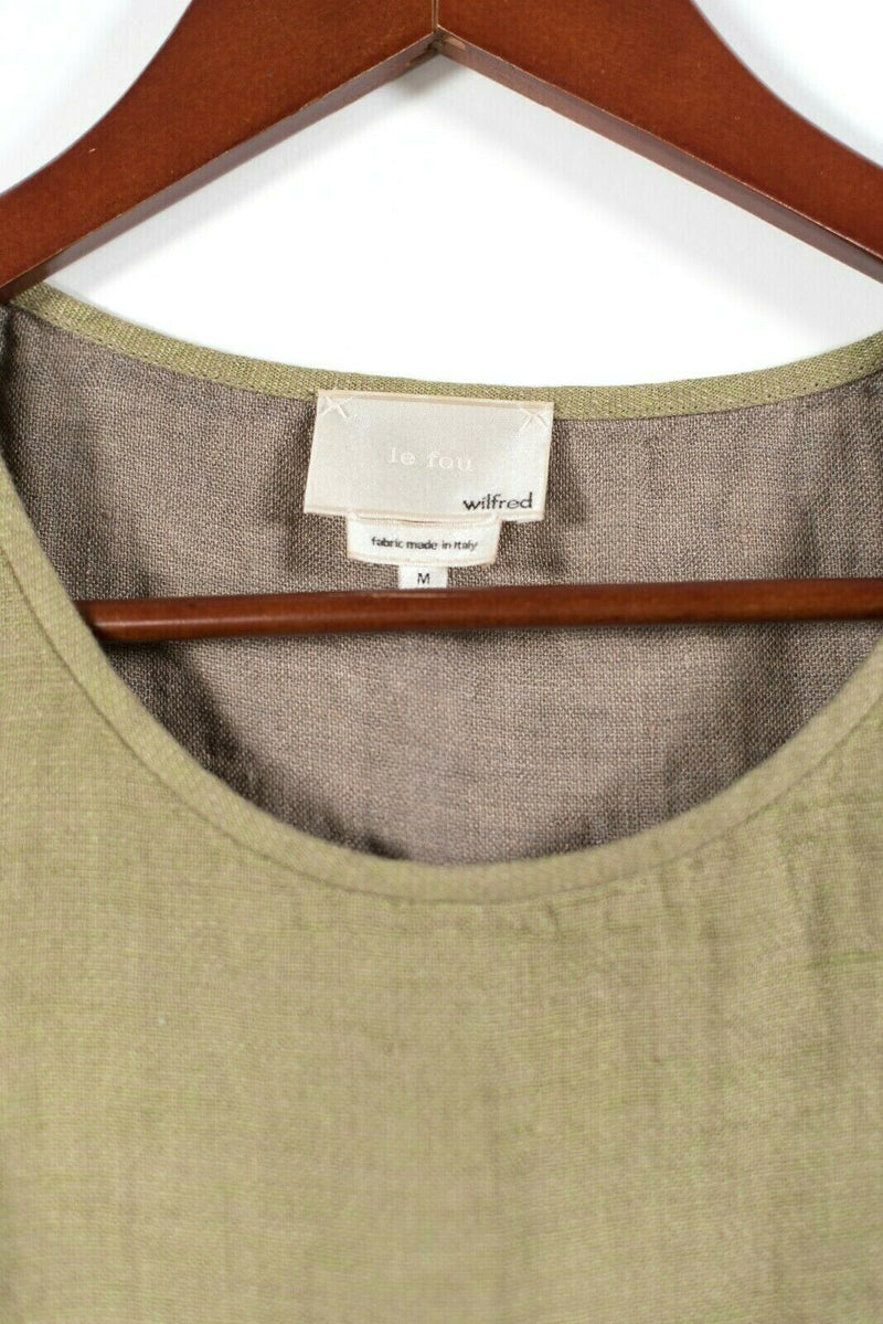 Aritzia Wilfred Le Fou Womens Medium Mustard Yellow Blouse Tie Tank Top T Shirt