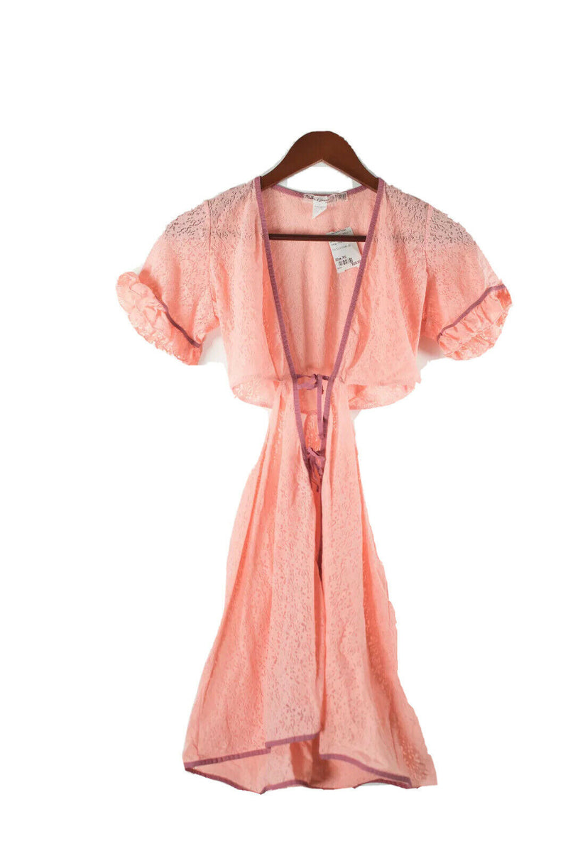 For Love & Lemons Skivvies Size XS Orange Mesh Cover Up Slip