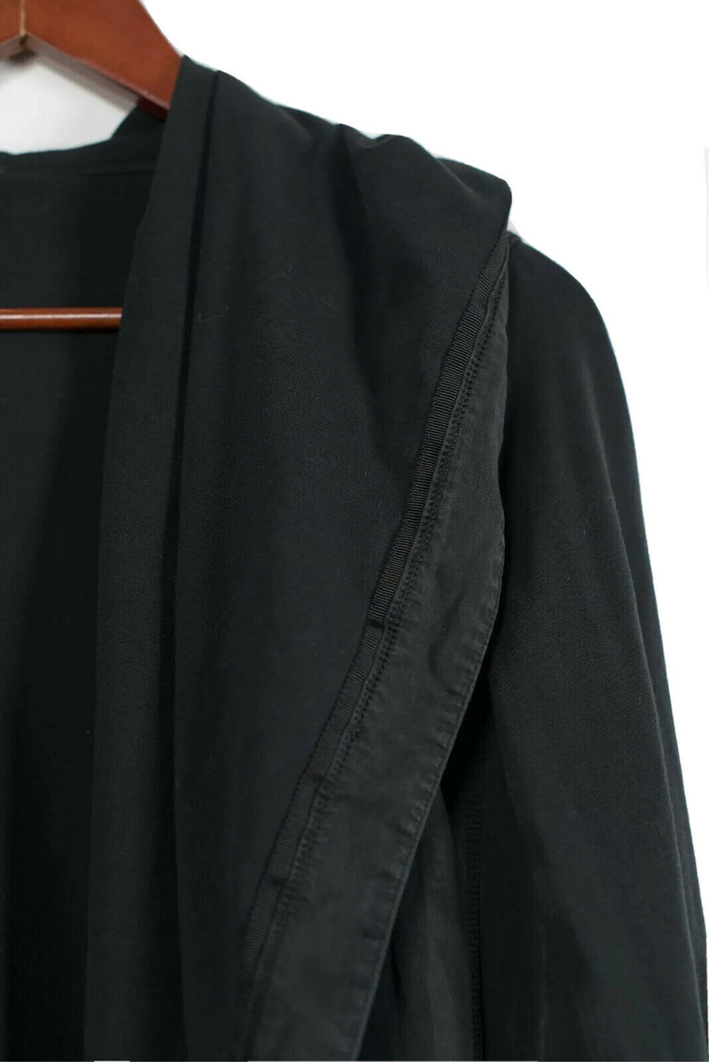 Lululemon Womens Size M 8 10 Black Button Closure Hooded Wrap Jacket