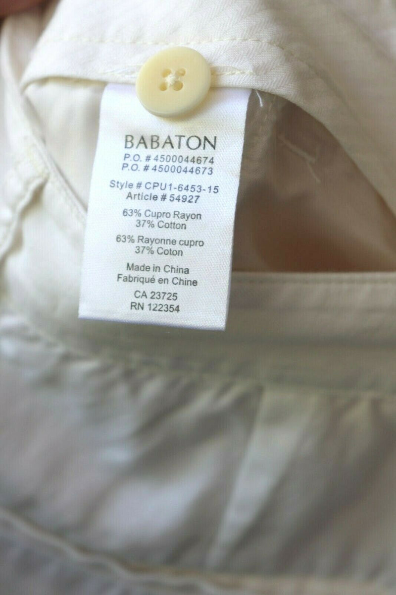 Aritzia Babaton Women's Size 6 White Jogger Pants Linen Blend With Elastic Cuff