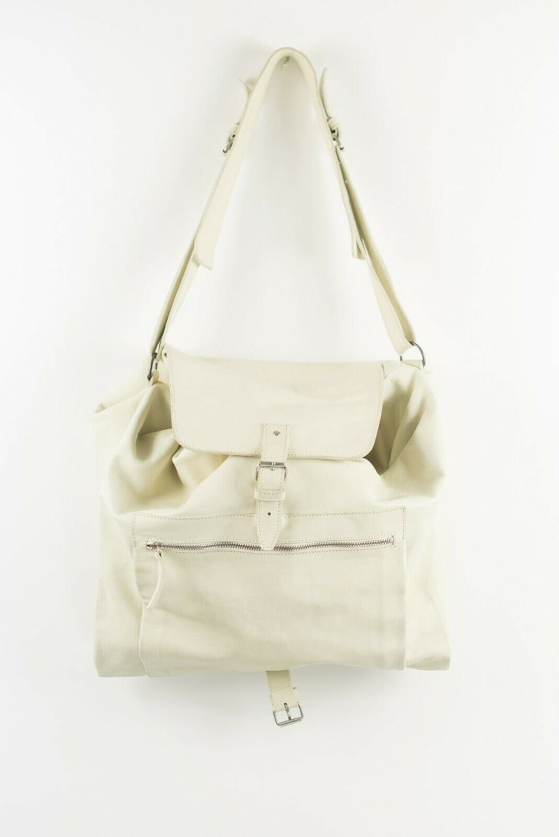 Ann Demeulemeester Large Ivory Weekend Bag Big Oversize Leather Travel Zip $2000