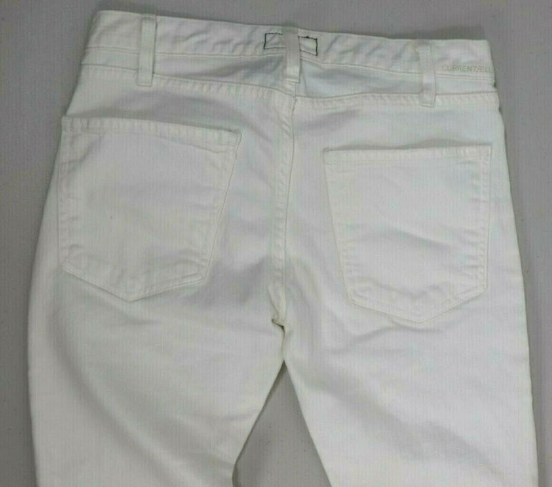 Current Elliott Womens 27 White Jeans Moto Skinny Low-Rise