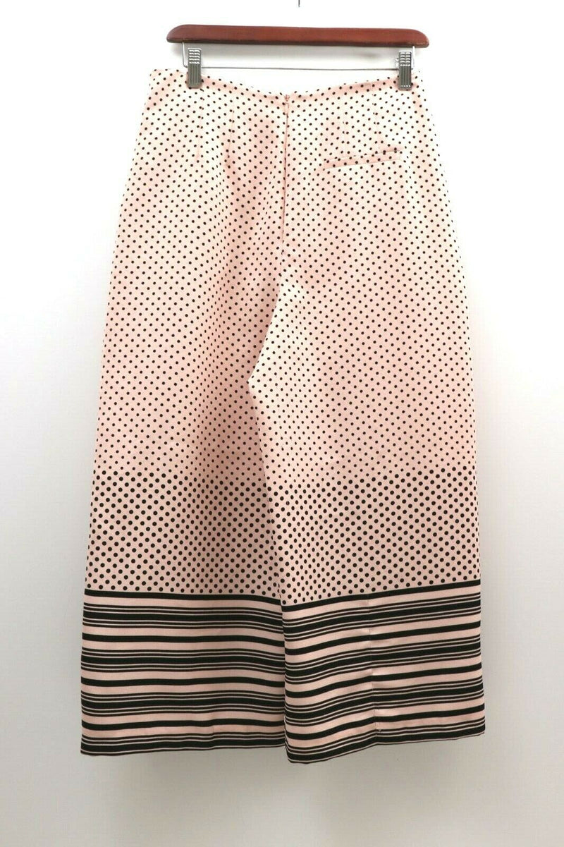 Topshop Womens Size 6 Pink Black Cropped Wide Leg Pants