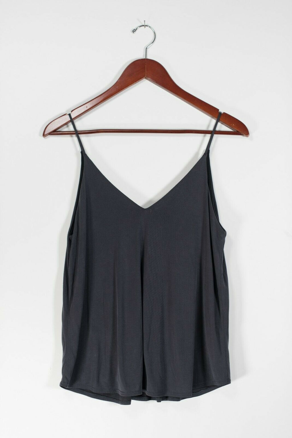 Aritzia Talula Women's Small Gray Black Top Cami V Neck Tank Spaghetti Strap NWT