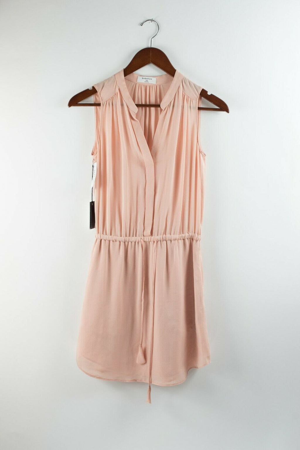 Aritzia Babaton Size XXS Pink Peach Blush Dress Silk Benedict Silk Mini NWT $145