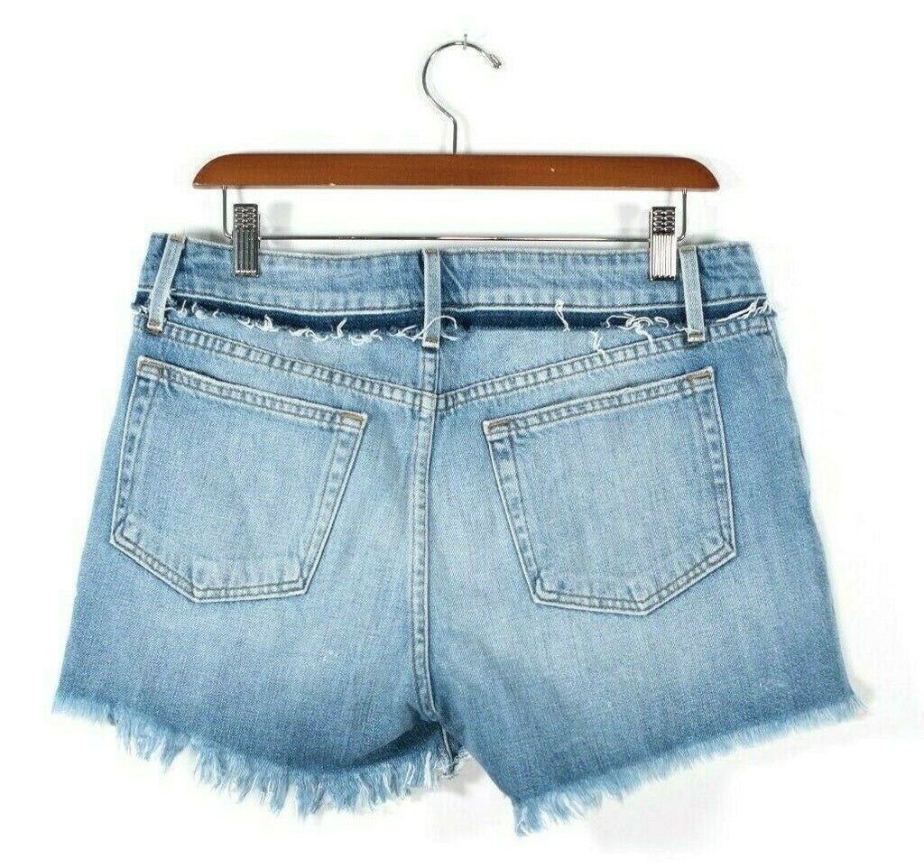Frame Womens Size 27 Blue Shorts Le Cut Off Distressed Frayed Denim Shorts $198