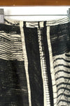 Max Mara Womens Size 8 Cream Brown Black Skirt Pencil Straight Mini Striped