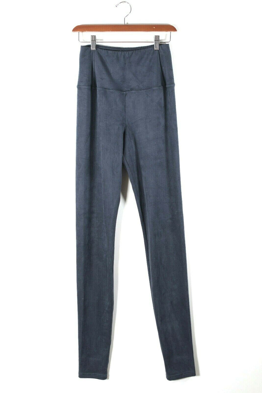 Wilfred Womens Medium Blue Pants High Waist Stretch Faux Suede Skinny Daria