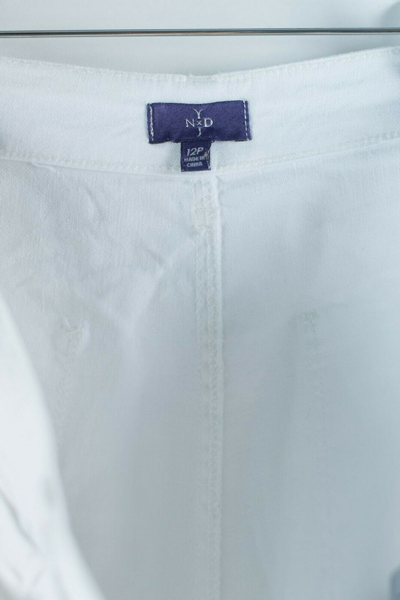 NYDJ Not Your Daughters Jeans Womens White Size 12 Petite Bermuda Walking Shorts