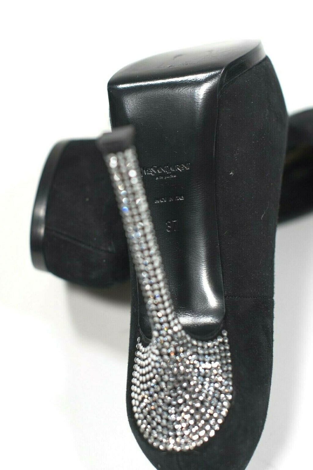 YSL Tribute Two Crystal Pumps Size 37