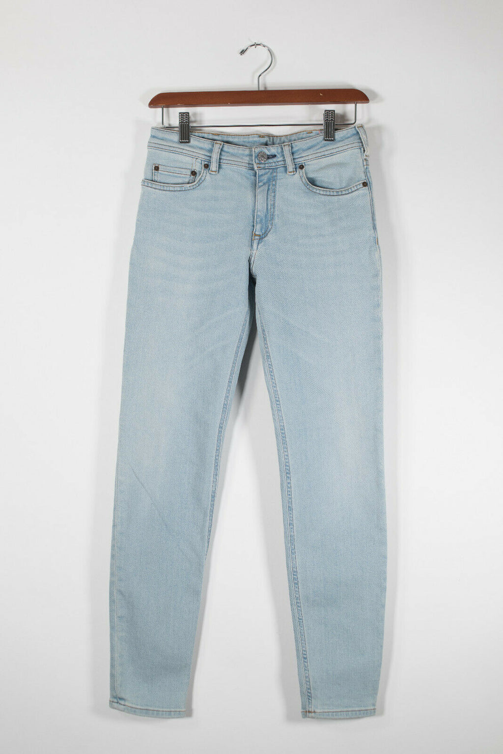 Acne Studios Bla Konst Womens Size 26 Small Light Blue Jeans Skinny Denim NWT