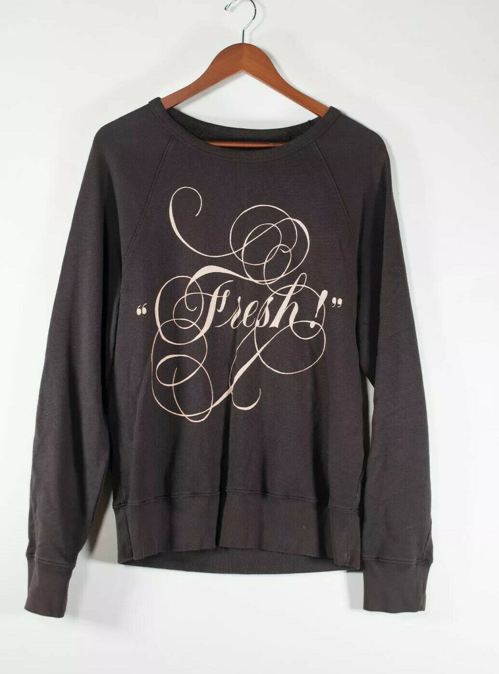 Acne Studios Womens Size XS Black Pullover Sweatshirt Graphic Jumper Sweater Top