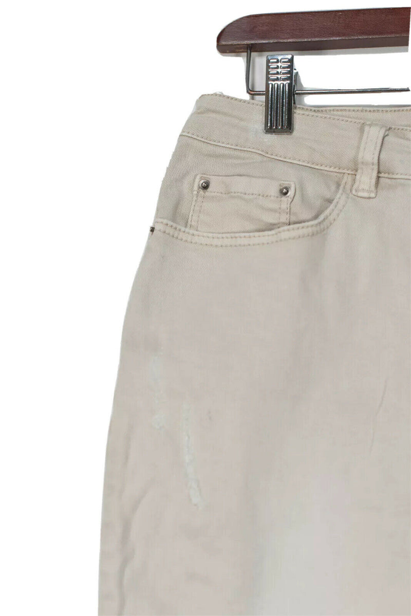 10 Feet Size Small Beige Jean Skirt