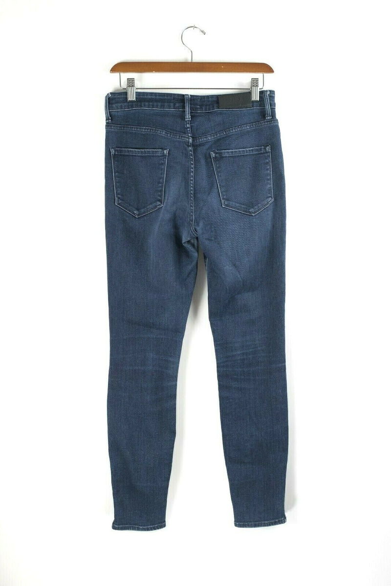 The Castings Womens Size 28 Dark Blue High Rise Skinny Ankle Zip Jeans Aritzia