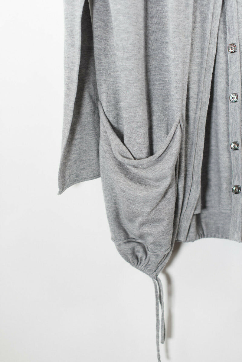 Thomas Wylde Medium Grey Cashmere Knit Cardigan