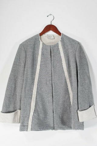 Free People Small Grey Cropped Jersey Shirt NWT