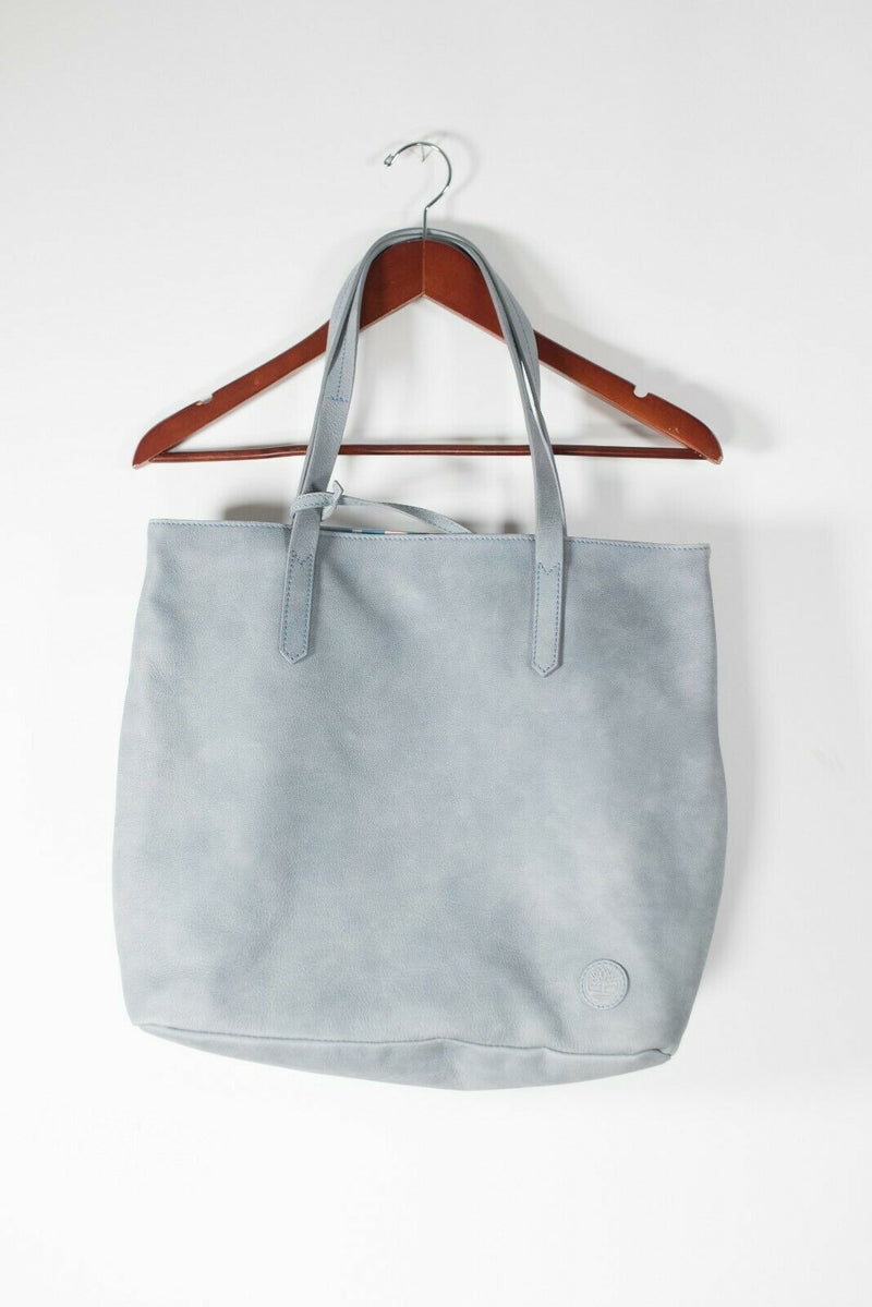 Timberland Women's Medium Powder Blue Tote Purse Handbag Leather Made in Italy