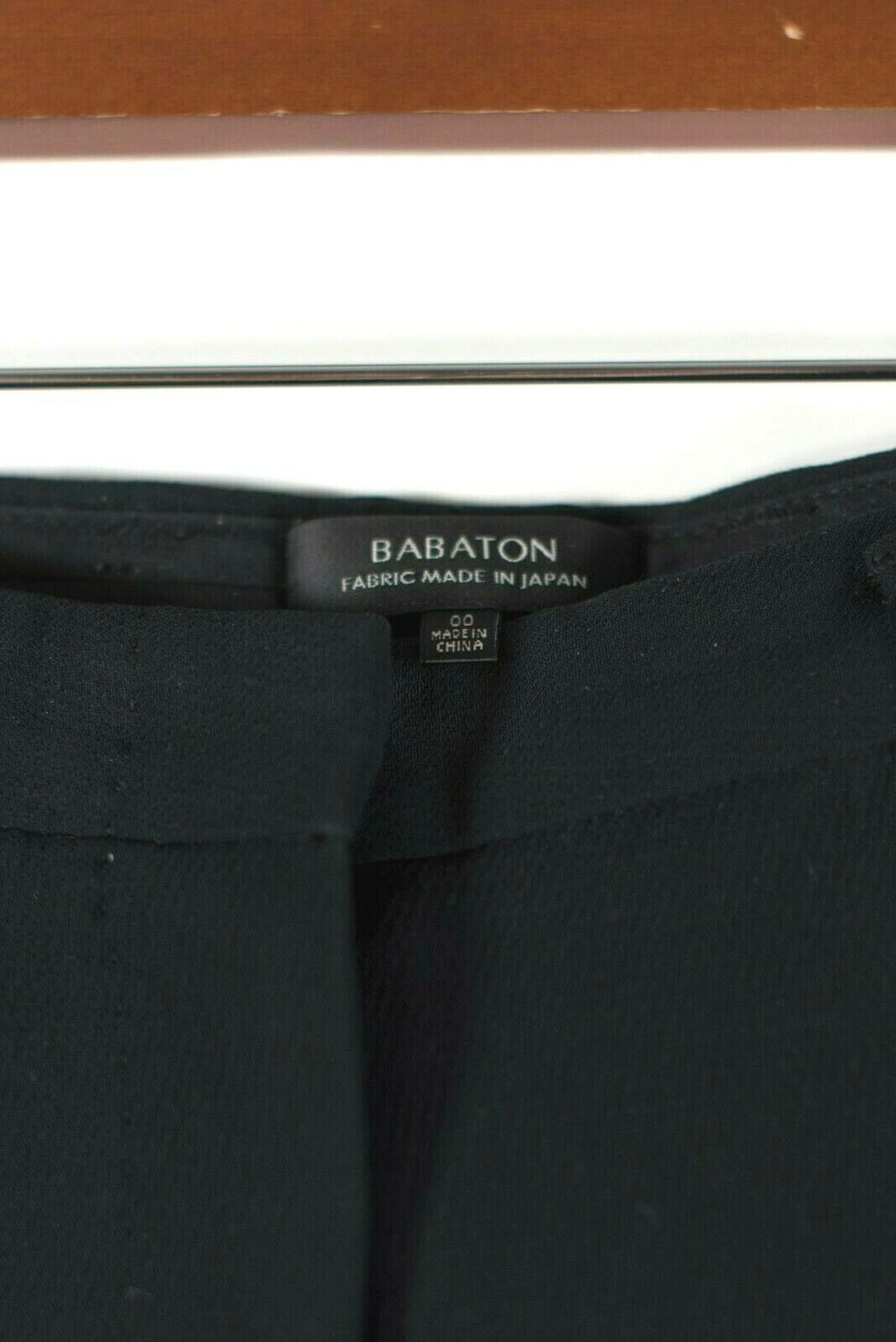 Aritzia Babaton Womens Size 00 XXS Black Dress Pants Slash Pocket Sheen Trousers