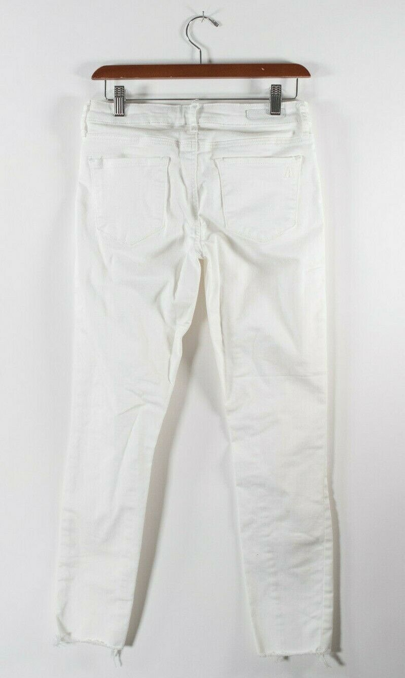 Articles of Society Womens Size 26 S White Jeans Skinny Distressed Raw Fray Slim