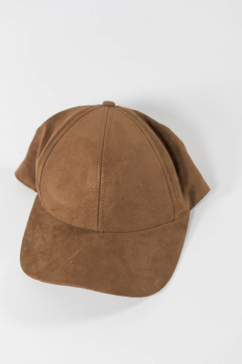 Aritzia Wilfred Free Women's Small Brown Baseball Cap Micro Suede Adjustable Hat