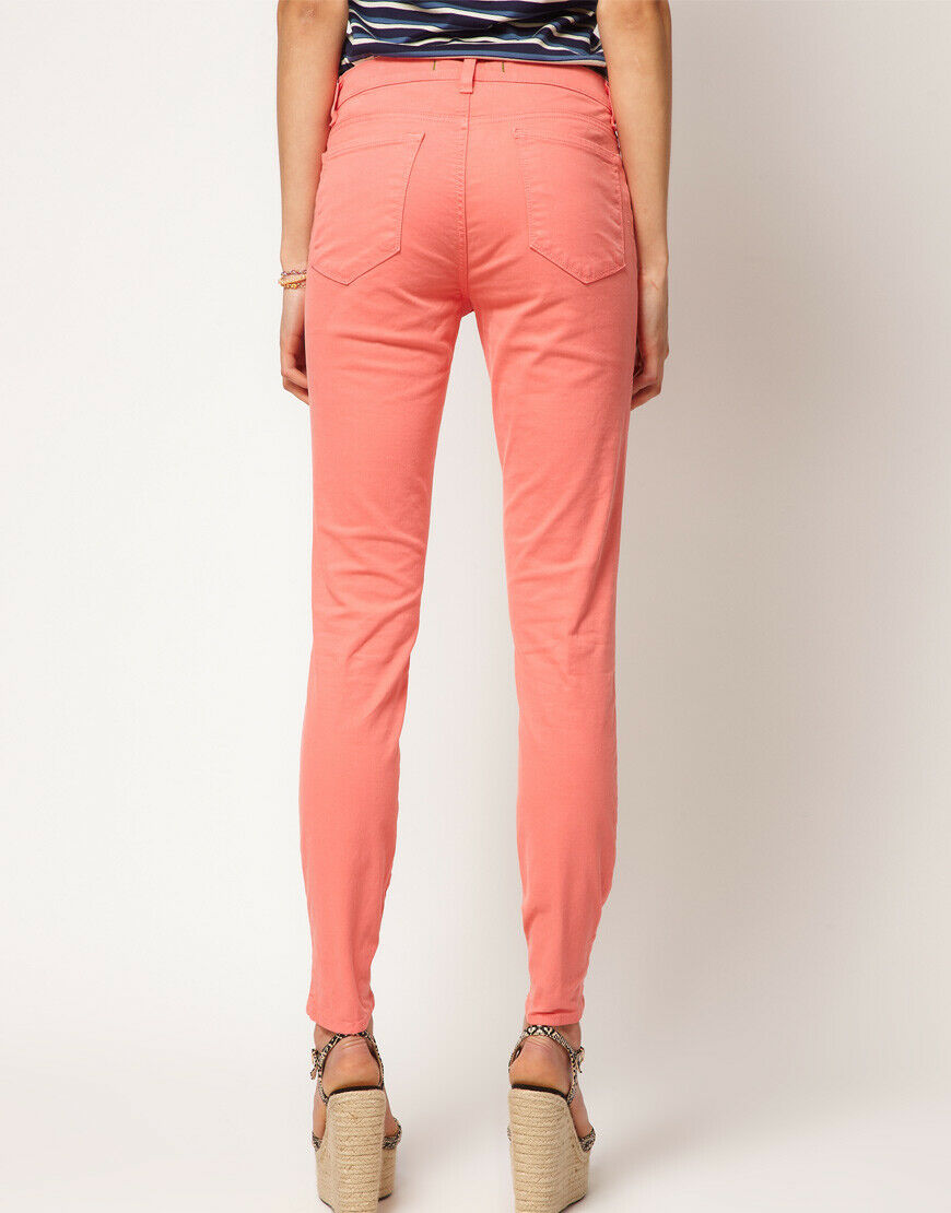 J Brand Womens Size 24 Coral Pants Twill Super Skinny Trousers Ankle Denim NWOT