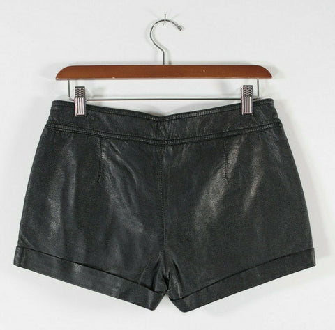 Wildfox Womens Size Small Black Shorts Embossed Cut Out Back Lined Sheer Shorts