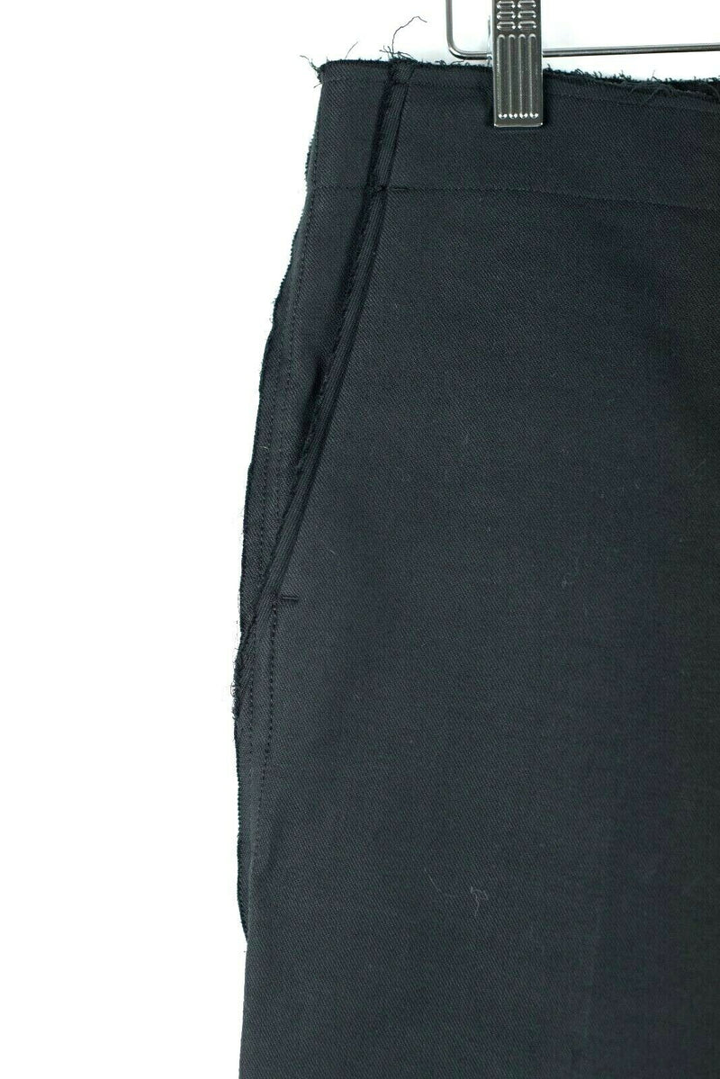 Helmut Lang Women's Size 4 Black Pants Raw Seam Flare