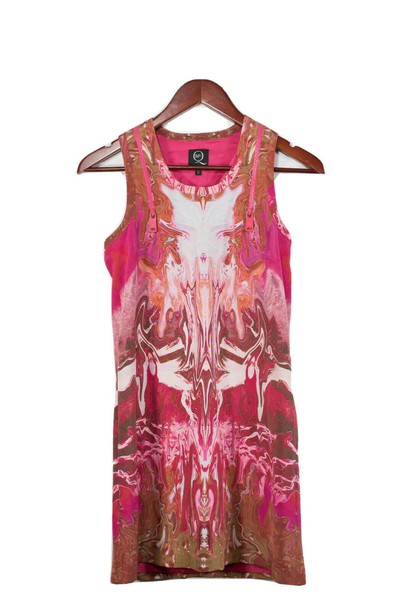Alexander McQueen MCQ Size 38 Small Pink Graphic Dress