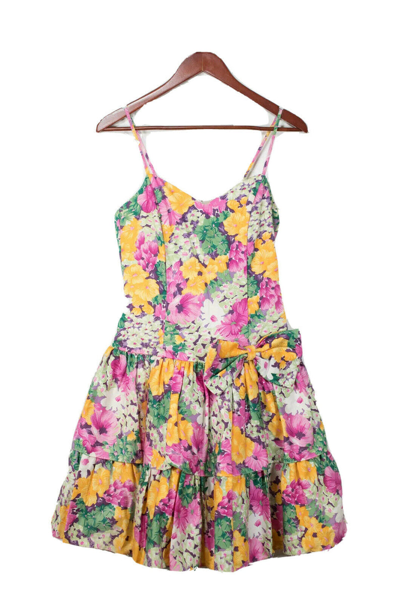 Pantel Medium Pink Vintage Floral Party Dress