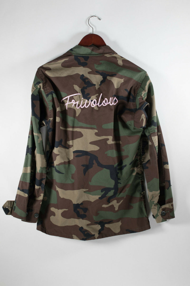 Propper Womens Small Green Jacket Camouflage Army Military Cargo Pockets Logo
