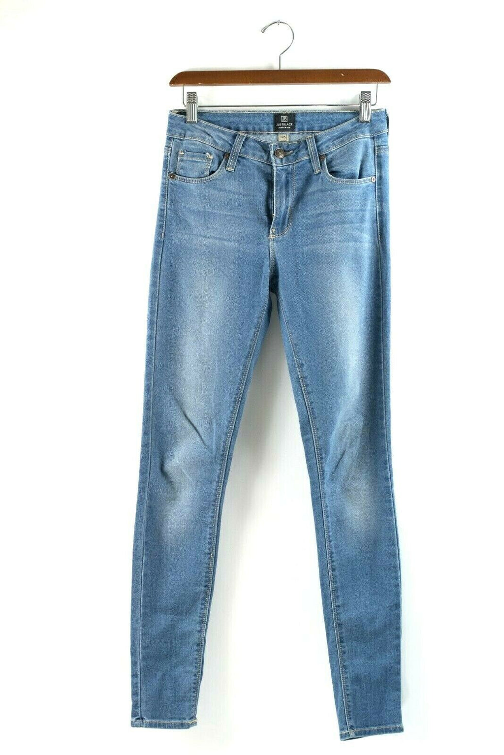 Just Black Womens Size 25 Blue Jeans Ankle Skinny Faded Skinny Denim Pants Ankle