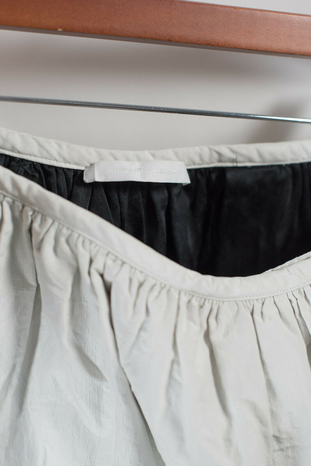 Narcisco Rodriguez Womens Size 6 Small White Skirt Italy Designer Bubble Skirt