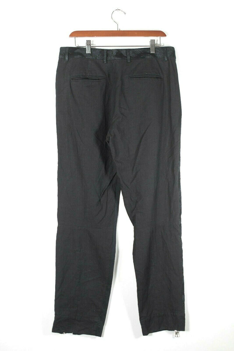 Dries Van Noten Size 42 Black Paisley Trim Pants
