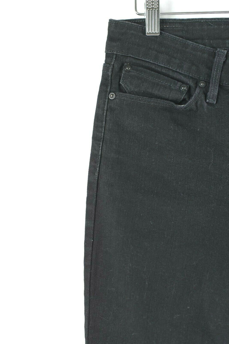 Levi's Womens Size 4 27 Black Jeans Denim Demi Curve Skinny Mom Jeans Pants