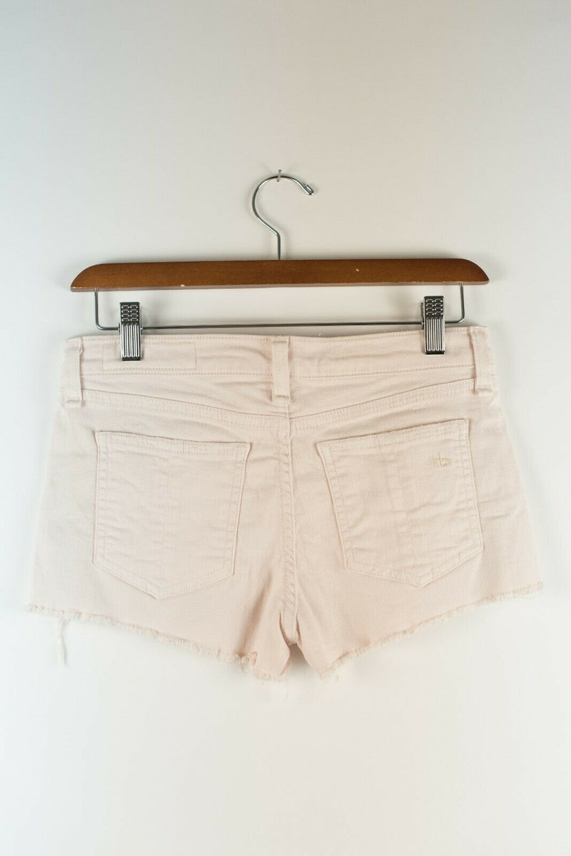 Rag & Bone Size 24 Light Pink Shorts Distressed Boyfriend Jean Shorts Daisy Duke