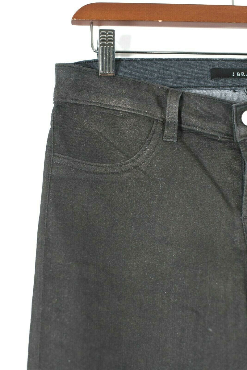 J Brand Womens Size 29 Medium Black Denim Pants Skinny Sparkle Glitter Jeans