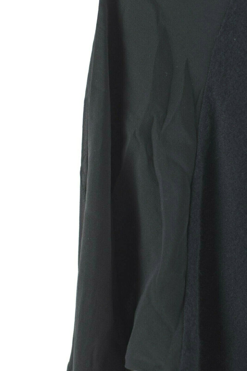 Vince Womens Size Small Black Sweater Cashmere Knit Top Silk Sleeves Long Shirt