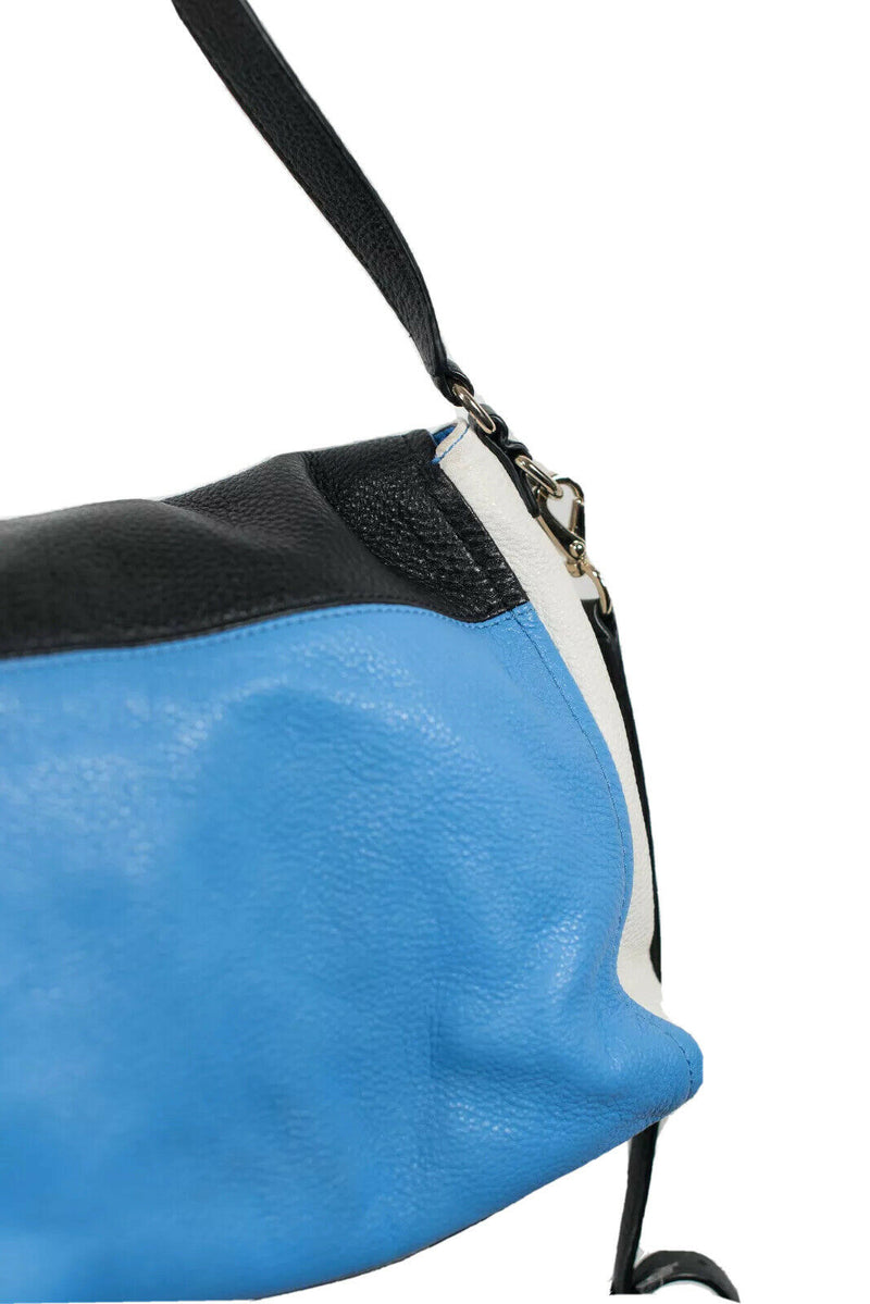 Kate Spade Womens Black White Blue Crossbody Bag