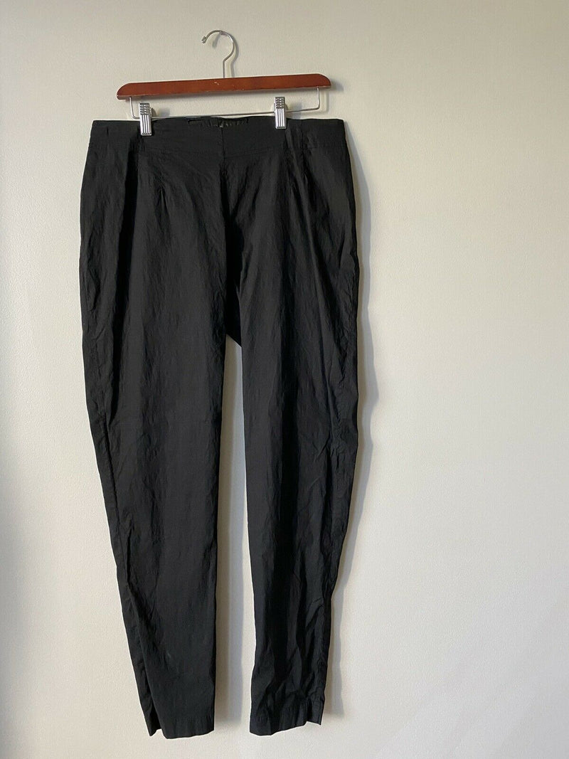 Rundholz Dip Women's Large Black Pants Stretch German Designer Slim Trousers