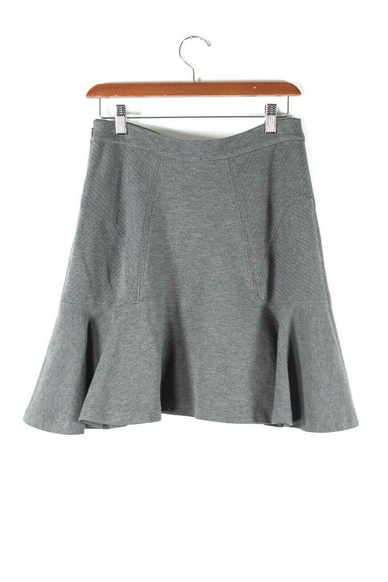 Diane von Furstenberg DVF Womens Size 4 Small Gray Skirt Mini Flared Size Zipper