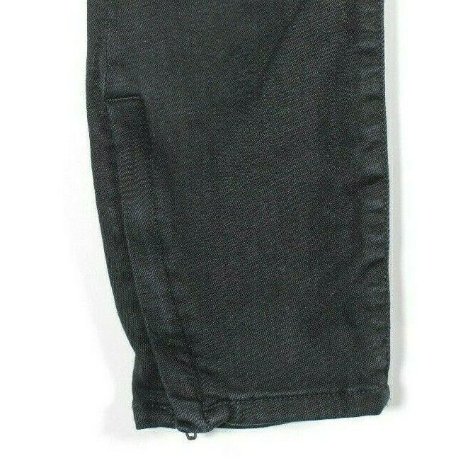 Helmut Lang Womens Size 26 Small Black Skinny Jeans Ankle Zipper Slim Denim