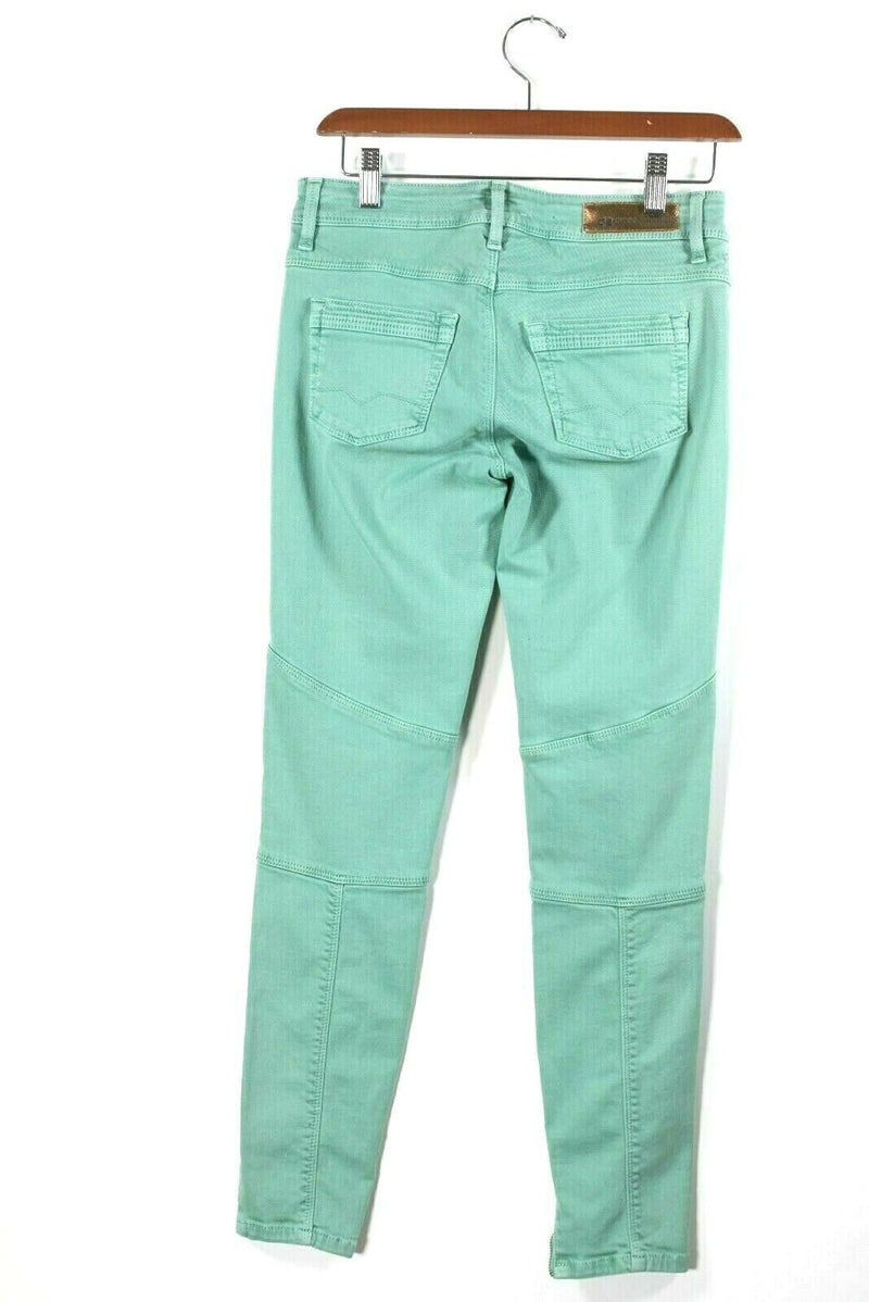 Hugo Boss Orange Womens Size 26 Green Pants Skinny Ankle Zip 5 Pocket Trousers
