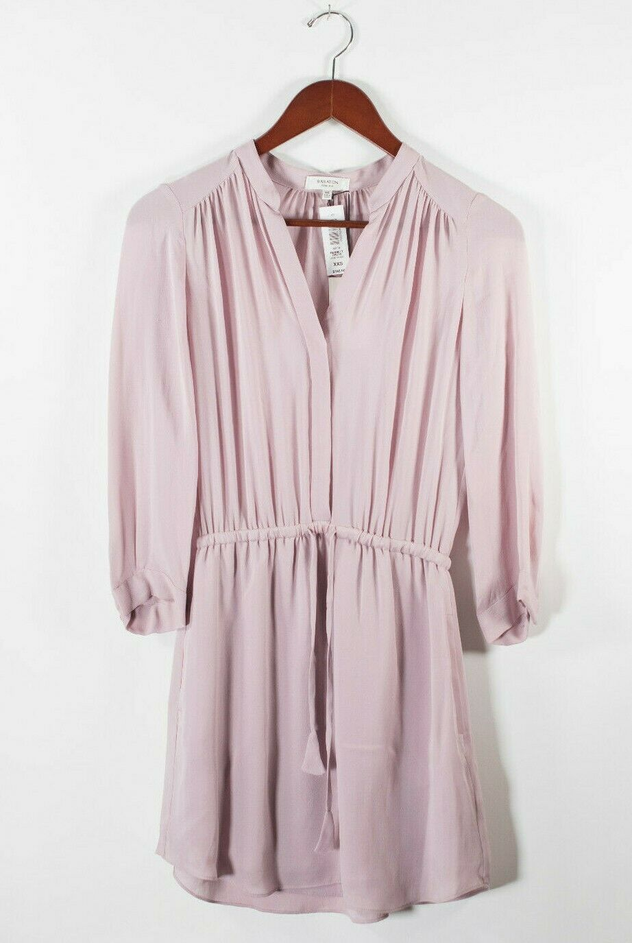 Aritzia Babaton Womens XXS Lilac Glaze Purple Dress Bennett Silk V Neck NWT $165