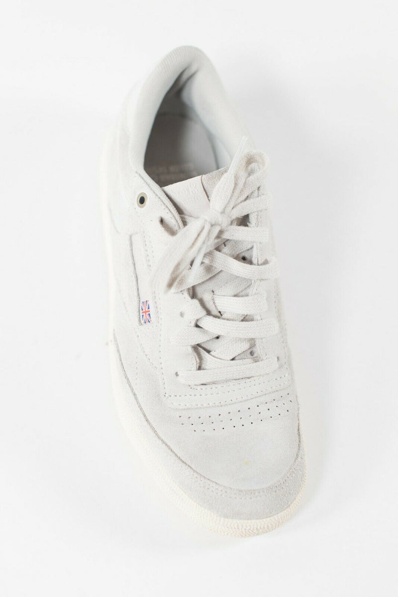 Reebok Women's Size 6.5 Gray Sneakers Lace Up Suede Low Cut Flats Logo Trainers