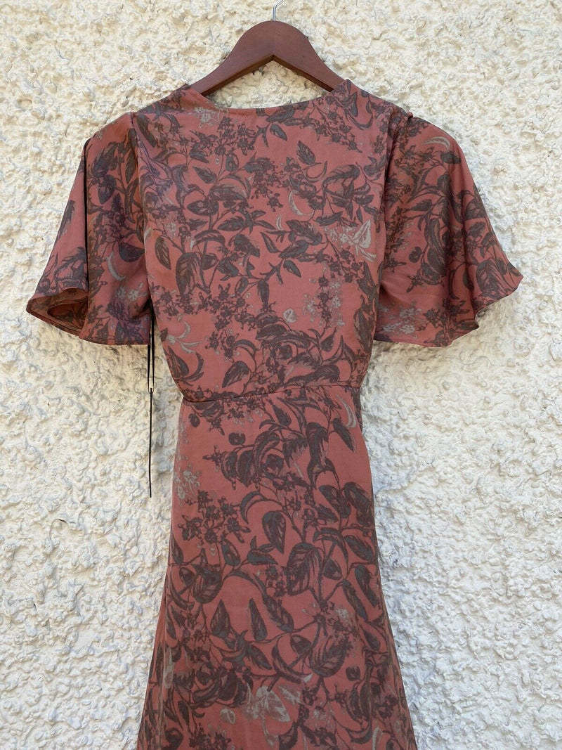 House of Harlow x REVOLVE Womens Size XS Pink Harper Wrap Dress Short Sleeve NWT
