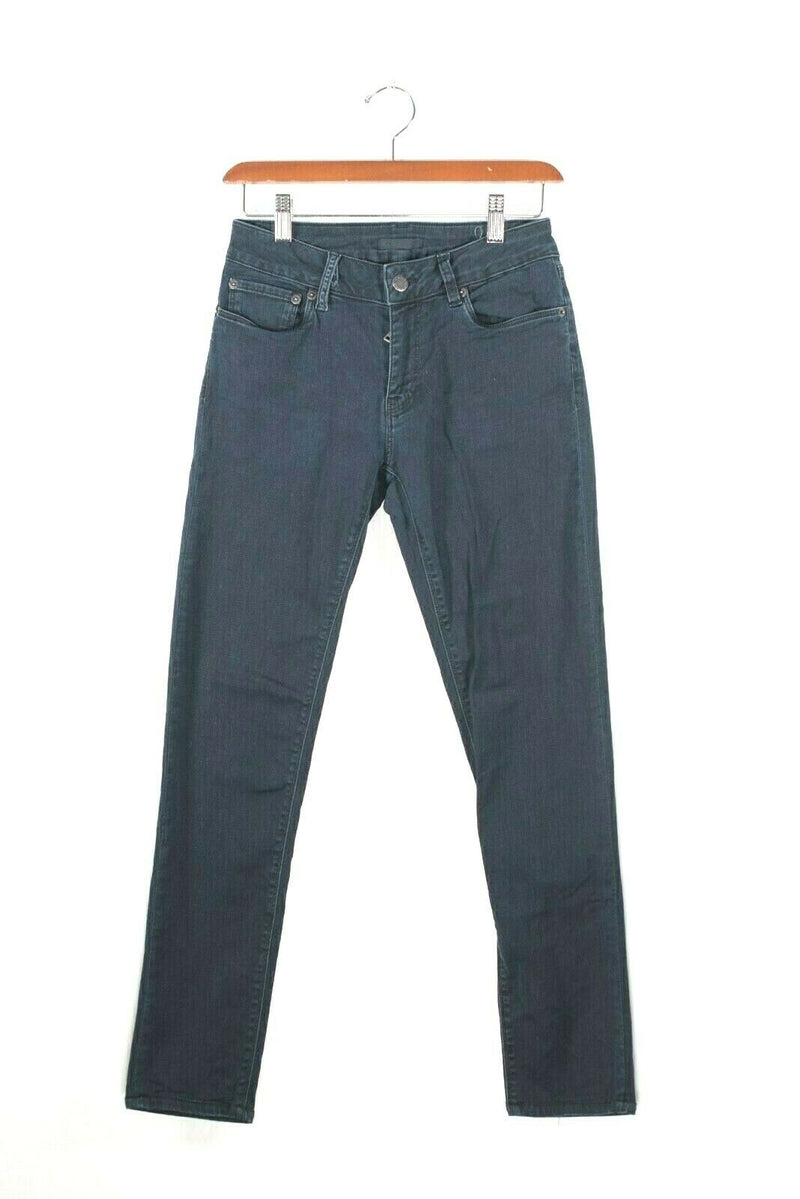 Prada Womens Size 27 USA 4 Dark Blue Denim Cotton Pants Soft Skinny Slim Jeans