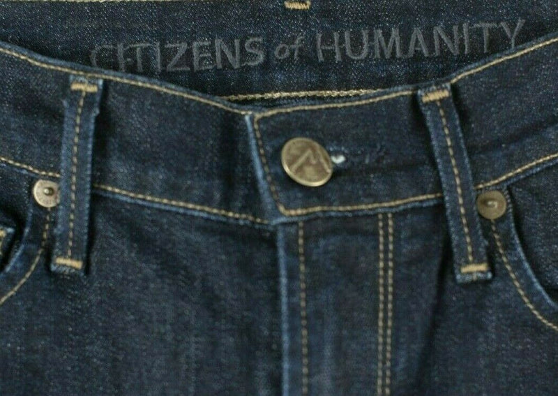 Citizens Of Humanity Womens Size 24 Dark Blue Skinny Denim Jeans Trousers Pants