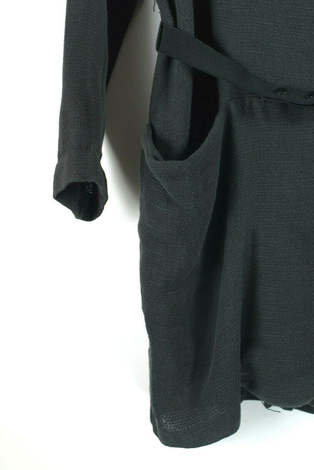 Stem From Womens Size Small Charcoal Grey Coat Midi Smudge Jacket Open Front NWT
