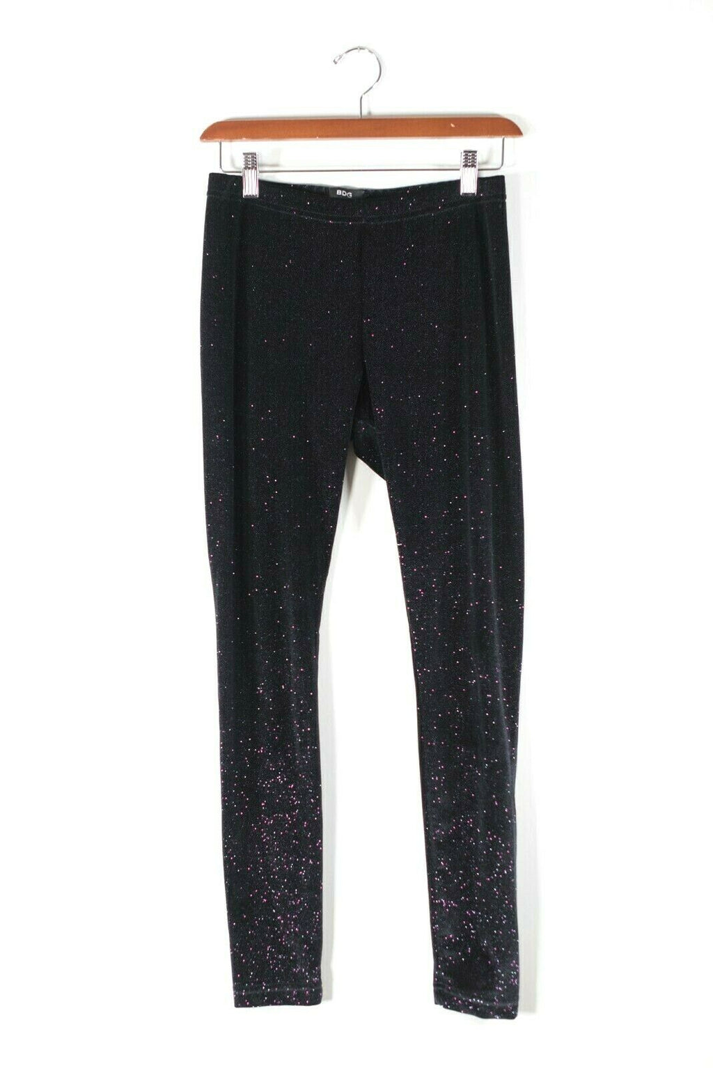 BDG Urban Outfitters Medium Black Leggings Velvet Sparkle Full Length Glitter